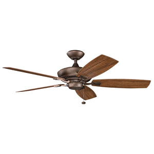 Canfield Patio Light Ceiling Fan in Weathered Copper Powder Coat Finish by Kichler 310192WCP