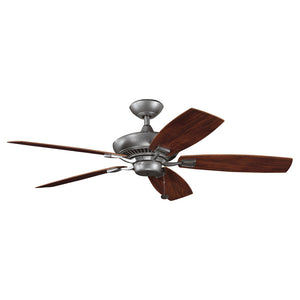Canfield Patio Light Ceiling Fan in Weathered Steel Powder Coat Finish by Kichler 310192WSP