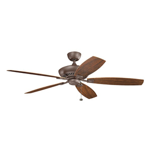 Canfield Light Ceiling Fan in Tannery Bronze Powder Coat Finish by Kichler 310193TZP