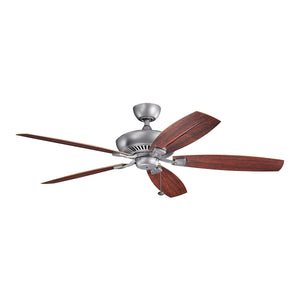 Canfield Light Ceiling Fan in Weathered Steel Powder Coat Finish by Kichler 310193WSP
