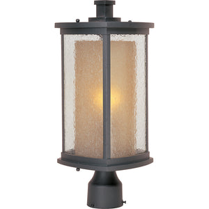 Maxim Lighting 3150CDWSBZ Bungalow 1-Light Outdoor Pole/Post Lantern in Bronze Finish