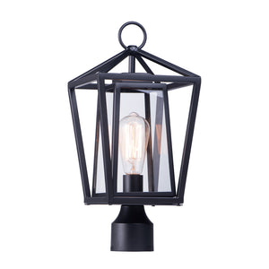 Maxim Lighting 3171CLBK Artisan 1-Light Outdoor Post Lamp in Black Finish