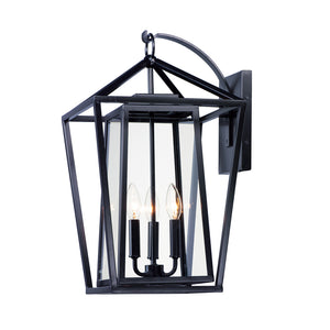 Maxim Lighting 3176CLBK Artisan 3-Light Outdoor Wall Sconce in Black Finish