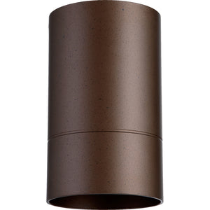 Cylinder 1 Light Ceiling Mount in Oiled Bronze Finish 320-86