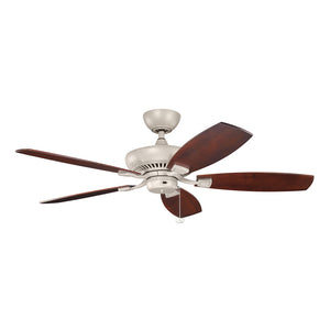 Climates Light Ceiling Fan in Antique Satin Silver Finish by Kichler 320500ANS