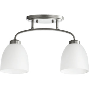 Reyes 2 Light Ceiling Mount in Classic Nickel Finish 3260-2-64