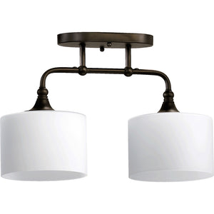 Rockwood 2 Light Ceiling Mount in Oiled Bronze Finish 3290-2-86