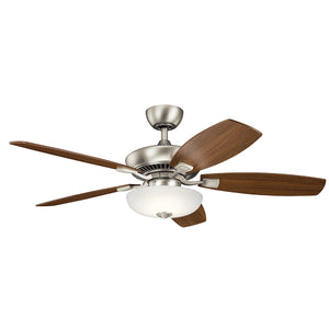 Canfield Pro LED Ceiling Fan in Brushed Nickel Finish by Kichler 330013NI