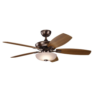 Canfield Pro LED Ceiling Fan in Oil Brushed Bronze Finish by Kichler 330013OBB