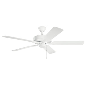 Basics Pro Patio Light Ceiling Fan in Matte White Finish by Kichler 330015MWH