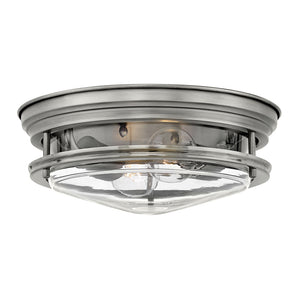 Hadley Foyer Ceiling by Hinkley 3302AN-CL Antique Nickel with Clear glass