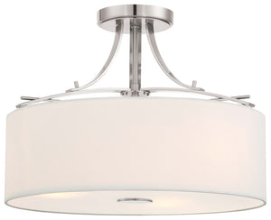 Poleis 3 Light Semi Flush Mount In Brushed Nickel Finish by Minka Lavery 3307-84