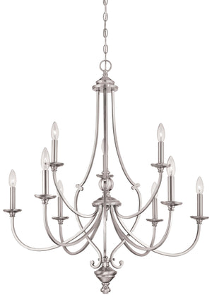 Savannah Row 9 Light Chandelier In Brushed Nickel Finish by Minka Lavery 3339-84