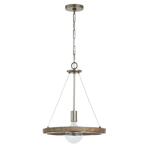 1 Light Pendant in Grey Wash Finish