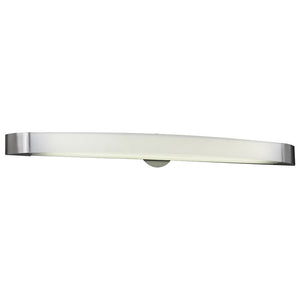 PLC Lighting 3378 SN Delaney Collection 1 Light Vanity in Satin Nickel Finish