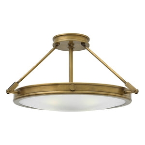 Collier Foyer Ceiling by Hinkley 3382HB-LED Heritage Brass
