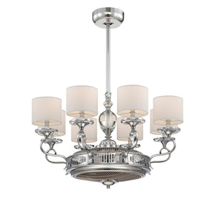 Levantara 8 Light Fan D'lier  in Polished Chrome Finish by Savoy House 34-327-FD-11