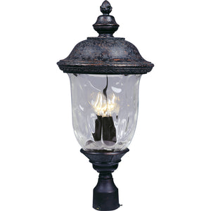 Maxim Lighting 3420WGOB Carriage House DC 3-LT Outdoor Pole/Post Lantern in Oriental Bronze Finish