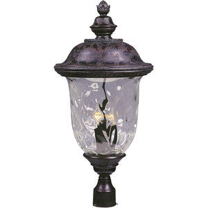Maxim Lighting 3421WGOB Carriage House DC 3-LT Outdoor Pole/Post Lantern in Oriental Bronze Finish