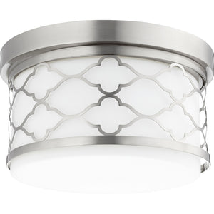 2 Light Ceiling Mount in Satin Nickel Finish 343-12-65