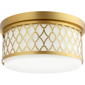 3 Light Ceiling Mount in Aged Brass Finish 344-14-80