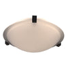 PLC Lighting 3453BKLED Nuova Collection 1 Light Ceiling Mount in Black Finish
