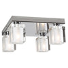 PLC Lighting 3486 PC Glacier Collection 4 Light Ceiling in Polished Chrome Finish