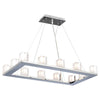 PLC Lighting 3488 PC Glacier Collection 12 Light Pendant in Polished Chrome Finish