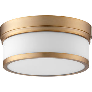 Celeste 2 Light Ceiling Mount in Aged Brass Finish 3509-12-80
