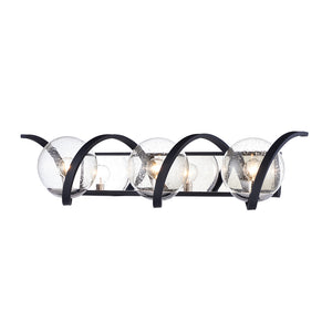 Maxim Lighting 35106CDBKPN Curlicue-Bath Vanity in Black / Polished Nickel