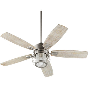Galveston 1 Light Ceiling Fan in Satin Nickel Finish 3525-65