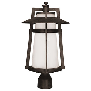 Maxim Lighting 3530SWAE Calistoga 1-Light Outdoor Pole/Post Lantern in Adobe Finish