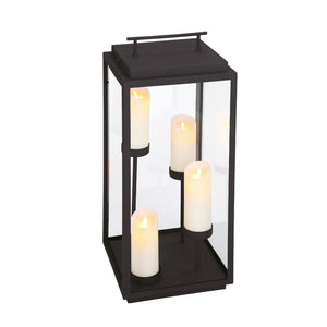 Cathedral 4 Light Outdoor Lantern in Sand Black By Eurofase 35979-012