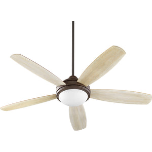 Colton 3 Light Ceiling Fan in Oiled Bronze w/ Satin Opal Finish 36525-9186