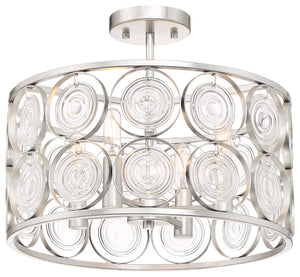 Culture Chic 4 Light Semi Flush Mount In Catalina Silver Finish by Minka Lavery 3669-598