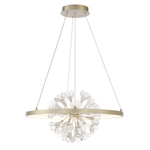 Clayton 1 Light Chandelier in Silver With Brushed Gold By Eurofase 37342-012