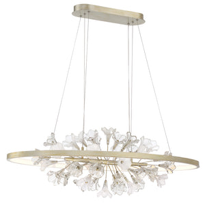 Clayton 0 Light Chandelier in Silver With Brushed Gold By Eurofase 37344-016