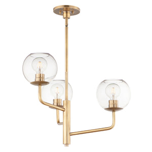Maxim Lighting 38413CLNAB Branch-Mini Chandelier in Natural Aged Brass