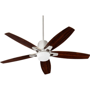Metro 1 Light Ceiling Fan in Satin Nickel Finish 39525-65
