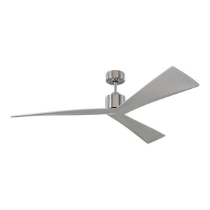 "Adler 60"" Brushed Steel Indoor Ceiling Fan by Monte Carlo Fans 3ADR60BS"