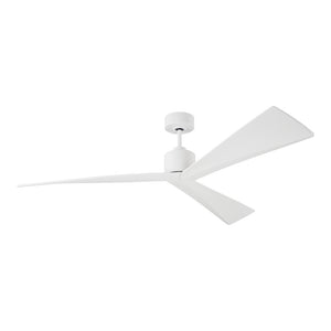"Adler 60"" Matte White Indoor Ceiling Fan by Monte Carlo Fans 3ADR60RZW"