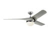 "Akova 56"" Chrome Indoor Ceiling Fan by Monte Carlo Fans 3AKR56CHD"