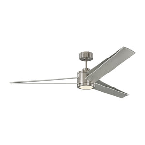 "Armstrong 60"" Brushed Steel Indoor Ceiling Fan by Monte Carlo Fans 3AMR60BSD"