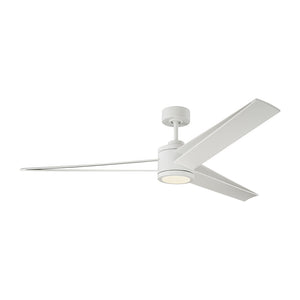 "Armstrong 60"" Matte White Indoor Ceiling Fan by Monte Carlo Fans 3AMR60RZWD"