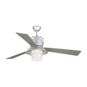 "Boynton 54"" Painted Brushed Steel Outdoor Ceiling Fan by Monte Carlo Fans 3BTR54PBSD"