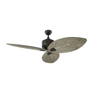 "Delray Outdoor 56"" Aged Pewter Outdoor Ceiling Fan by Monte Carlo Fans 3DLR56AGP"