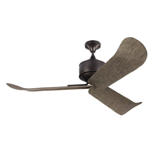 "Dylan 56"" Aged Pewter Outdoor Ceiling Fan by Monte Carlo Fans 3DYR56AGP"