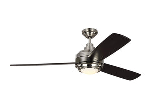 "Aerotour 56"" Polished Nickel Indoor Ceiling Fan by Monte Carlo Fans 3TAR56PNDMD"