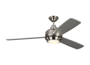 "Aerotour 56"" Polished Nickel Indoor Ceiling Fan by Monte Carlo Fans 3TAR56PNGRYD"
