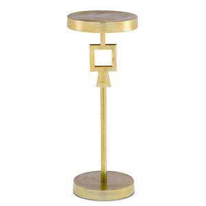 Willim Drinks Table in Shiny Gold by Currey and Company 4000-0083